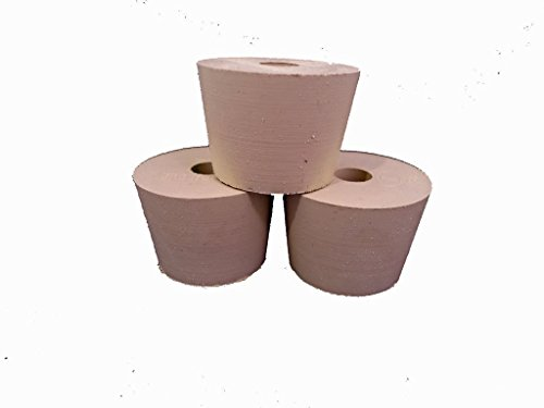 Drilled Rubber Stopper #6 (Set of 3)