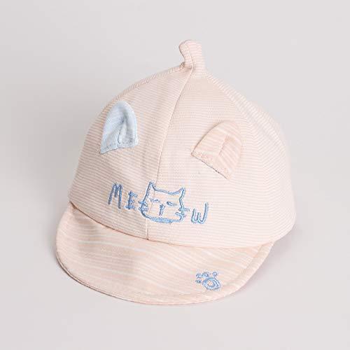 Gorra con Visera para niños Primavera y Verano Gorra de béisbol de bebé de Dibujos Animados Coreanos Sombrero de Sol para bebé con Protector Solar de algodón