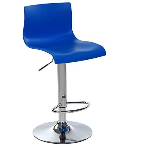 SFFZY Silla de bar Altura de la barra Taburete moderno industrial Sillas de comedor taburetes de la barra de la cafetería, bar, casa Balcón (Color : Blue)