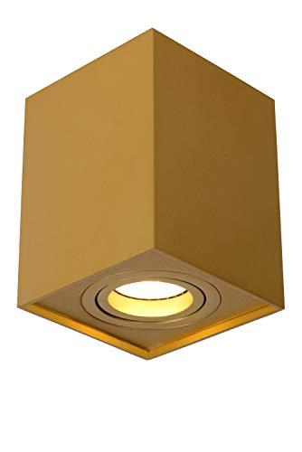 Lucide TUBE – Foco de techo – 1 x GU10 – Oro mate / latón