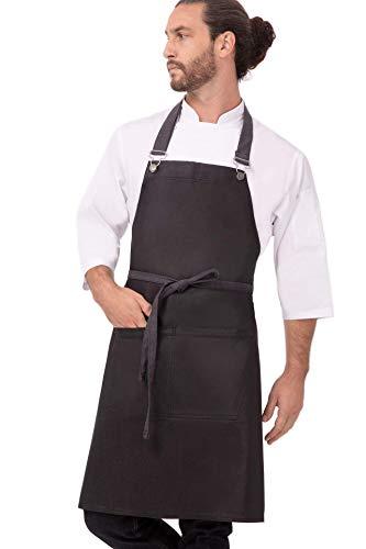 Chef Works Unisex Boulder Bib Apron, Purple/Black, One Size