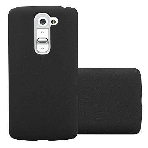 Cadorabo Hülle für LG G2 Mini - Hülle in Frosty SCHWARZ – Hardcase Handyhülle im matten Frosty Design - Schutzhülle Bumper Back Case Cover