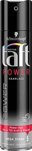 Schwarzkopf 3 Wetter Taft Haarlack, Power Mega Starker Halt 5, 5er Pack (5 x 250 ml)