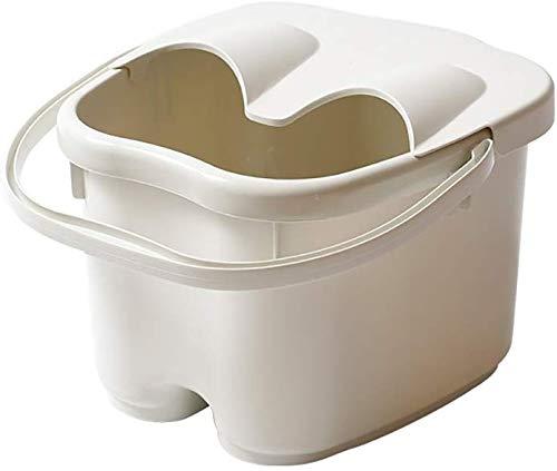 Voetbad barril massage van dik kunststof voetbad verhoging van het huis voetbad trompet 22 x 28 x 24 cm (kleur: Explosion) Wit