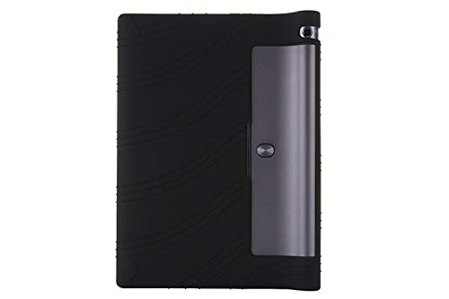 Oneyijun Negro Suave Silicona Piel Bolsa Proteccion Caso Protector Cubrir Funda para Lenovo Yoga Tab 3 YT3-X50F/M/L 10.1 Pulgadas Tableta