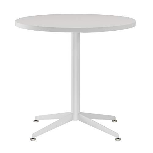 Mesa redonda de café blanca para reuniones o conferencias,