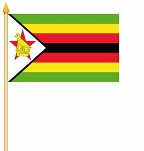 Stockfahne Simbabwe Fahne Flagge Grösse 30x45cm - FRIP –Versand®