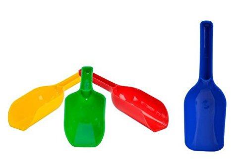 Mehlschaufel Sandschaufel 4 Stück farblich sortiert