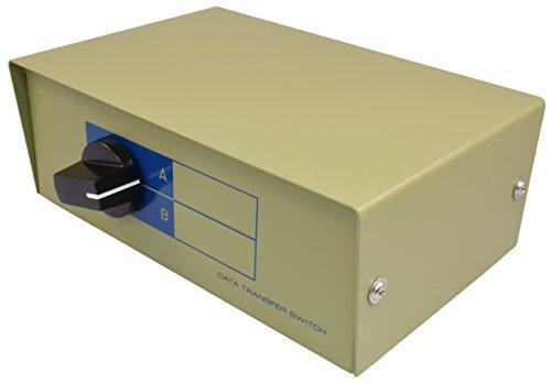 PTC 2-Way A/B RJ11/12 (Phone Jack) Metal Rotary Manual Switch Box
