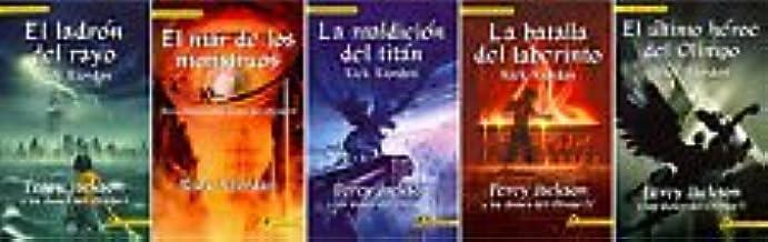 Percy Jackson & the Olympians Set Books 1-5 Spanish Language