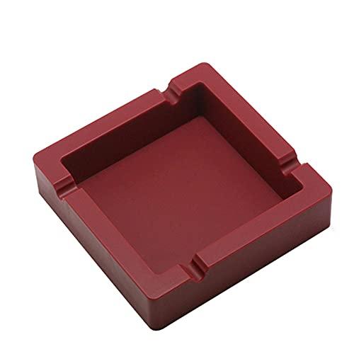 MWIOP 1 cendriers en Silicone,résistants à la Chaleur,incassable/Portable/Facile à Nettoyer,Trois Couleurs,Deux modèles,adapté pour Table Basse,Petite décoration,Appartement,Chambre,Balcon.