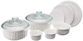 CorningWare French White Ceramic Bakeware 10-Piece