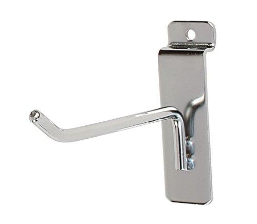 4 inch Chrome Peg Hook for Slatwall (Slatwall Hooks) - 50 Pack