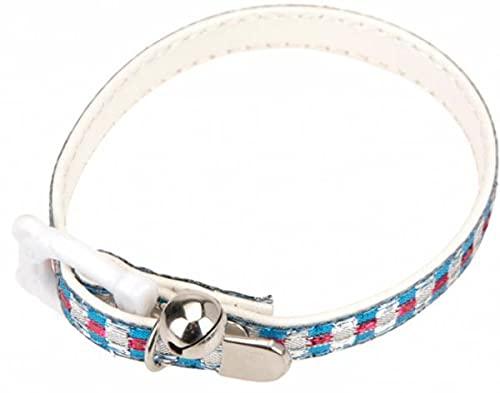 Cats Collection Collar de gato 30 cm azul/rosa/blanco