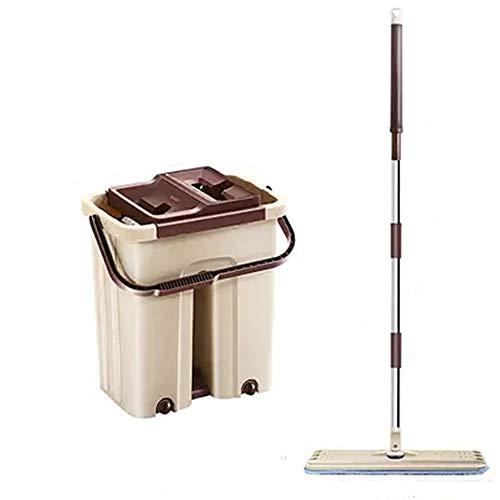 DIANZI Mop Roterende huishoudelijke luie dweil houten vloer geperst water mop emmer platte drag vrije hand wassen platte dweil
