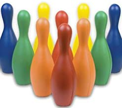 Champion Sports Multicolor Bowling Pins: Weighted Foam Set for Training & Kids Games