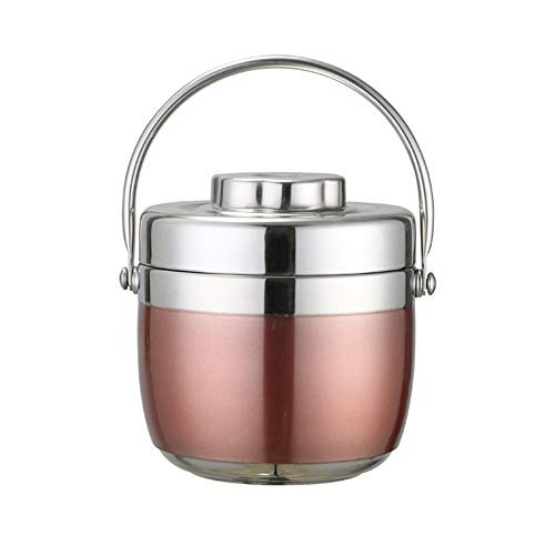 1.5L Isolé sous Vide Empilable en Acier Inoxydable Thermique Boîte À Lunch Boîte À Bento Récipient Alimentaire sans BPA sans Étanche pour Hommes et Femmes