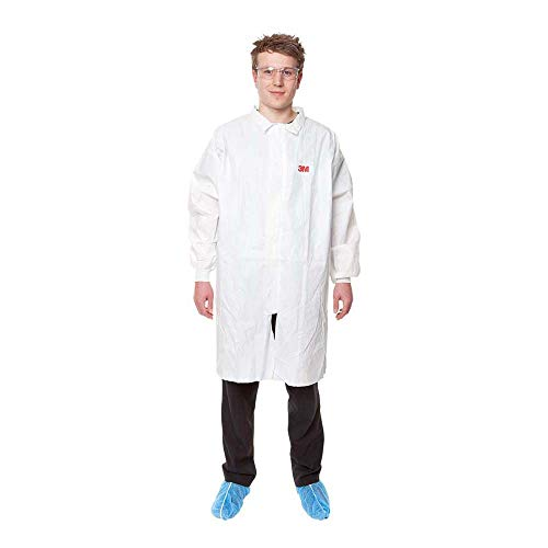 3M Bata de Laboratorio, talla XL, Blanco