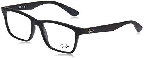 Ray-Ban Herren 0rx 7025 2077 55 Brillengestell, Schwarz (Matte Black)