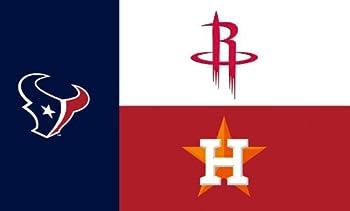 Houston Texas Teams Champions Logos Flag 3x5- With Grommets Rockets Texans Astros