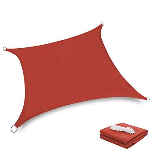 HotYou Toldo Vela de Sombra Prevención Rayos UV Solar protección Piel Resistente y Transpirable para Jardín,Patio,Rectángulo, Rojo,3 * 3 M