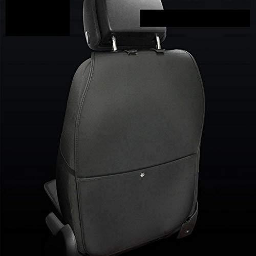 HONCENMAX Rückenlehnenschutz Auto Rückenlehne Schutz Wasserdicht Einfach zu Säubern Multifunktional Veranstalter Aufbewahrungstasche Reisezubehör PU-Leder [2 Packungen]