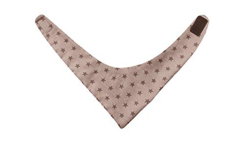 La Fraise Rouge 4251005603024 sjaal klittenband jean, driehoekig doek, beige met bruine sterren