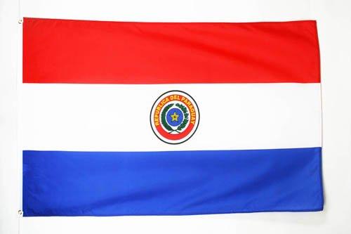 AZ FLAG Flagge Paraguay 150x90cm - Republik Paraguay Fahne 90 x 150 cm - flaggen Top Qualität