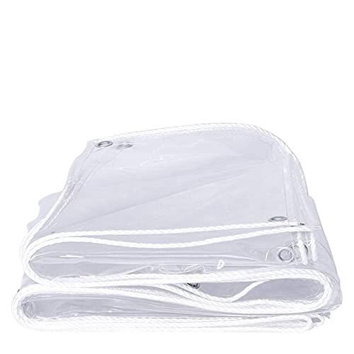 Transparent presenning, vattentätt PVC-klarlak med öglor, rivsäker fönsterfilm Presenning presenning, regntät markis, solskyddsgardiner, (0,35 mm / 400 g/m u0026 sup2;)