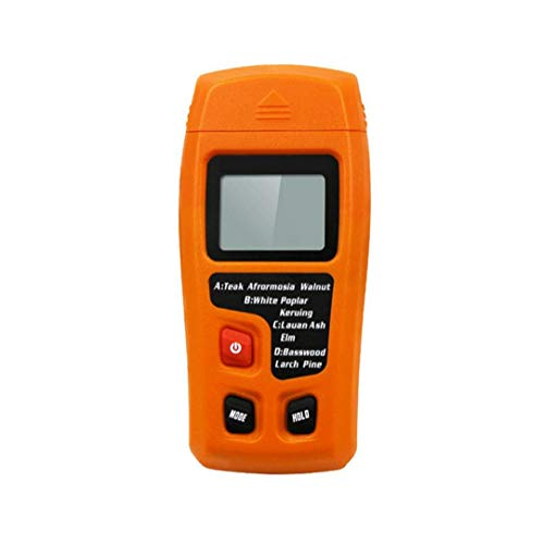 Naisicatar Holzfeuchte-messgerät LCD Display 0-99,9{590ff09c4f717069089ac8c5c9a963031cdf05afac7cb64513b4abd252190cc1} Zwei Pins Digital-feuchtigkeits-Tester Orange