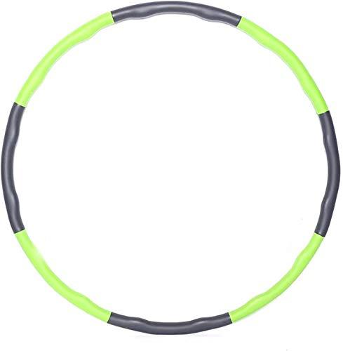 KOVEBBLE Hula Hoop Reifen für Erwachsene und Kinder, Hoola Hoop Reifen zur Fitnessübungen, Gewichtsabnahme, Bauchformung und Massage (Grenn)