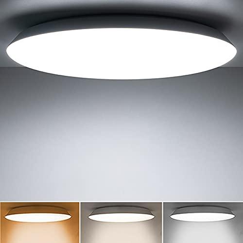 36W Lámpara de Techo led Regulable, Plafón Luz De Techo LED con Mando a Distáncia IP54 Impermeable 3000K-6000K para Salón, Baño, Dormitorio