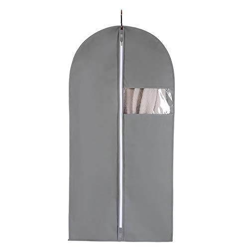 Xin Hai Yuan Bolsas de ropa para almacenamiento de armario, (5 paquetes) largo vestido transparente bolsa de ropa, gris, M