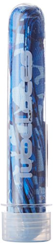 Tubelaces Special Flat Schnürsenkel, Blau (Ocean Camo) 131-140 cm, 5er Pack