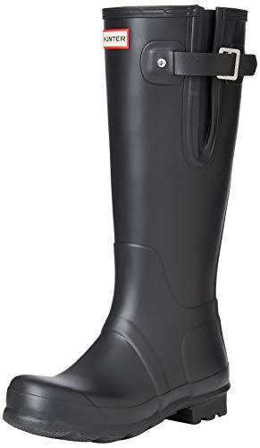 Hunters Boots Men's Original Side Adjustable Tall Boots, Black, 8-8.5 Medium US