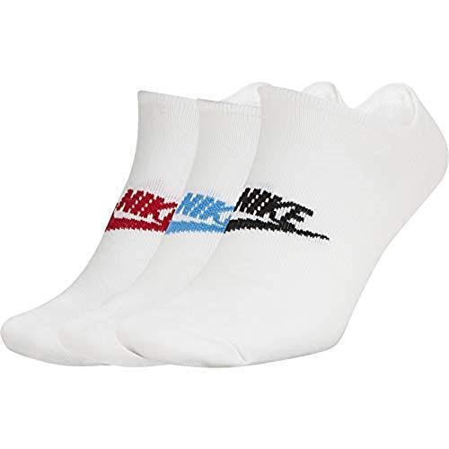 Nike U NK NSW Everyday Essential NS 3PR, Calzini Unisex – Adulto, wh(ur)/Wh(LPB)/Wh(Blk), XL