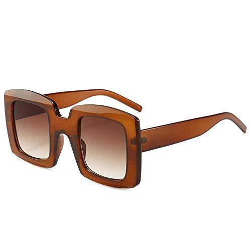 Sonnenbrille Neueste Übergroße Quadratische Sonnenbrille Damen Luxus Designer Damen Sonnenbrille Vintage Shades Eyewear Uv400 C7Brown