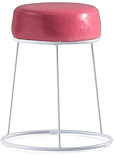 Sedie Da Bar Con Sgabelli Da Bar Regolabili Poggiapiedi in ferro rotondo sgabello cambio sgabello sgabello imbottito poggiapiedi in pelle sedile da tavolo con telaio corridoio bianco |Soggiorno |Polo
