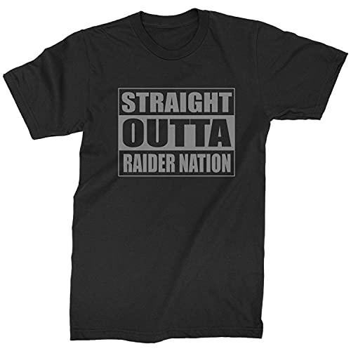 Mens Straight Outta Raider Nation T-Shirt XX-Large Black