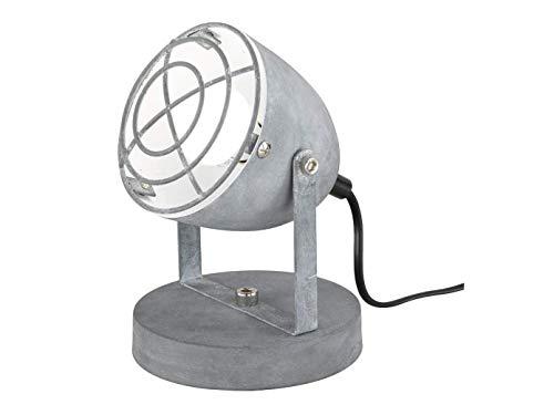 RETRO LED tafellamp INDUSTRIEDESIGN 1 vlammig metalen scherm draaibaar met rooster in betonlook