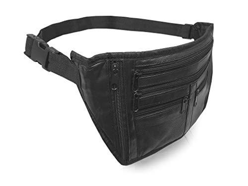 Roamlite Bumbag - Cinturón de cuero XL grande 36 cm RL914LM, Negro liso. (Negro) - .