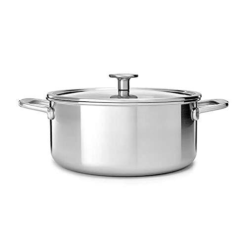 KitchenAid Mehrlagiger Edelstahl-Kasserolle mit Deckel, 3-lagig, 20 cm