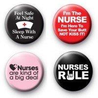 Set of 4 - NURSE / NURSING - Funny Comedy MAGNETS