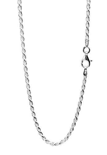 新宿銀の蔵 カットフレンチロープチェーン 長さ40~60cm (60cm) 幅2.0mm シルバー 925 ネックレス チェーン ネックレスチェーン sv925