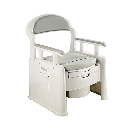 MMPY - Silla de baño Interior móvil, reposabrazos Gruesos, diseño Desodorante, fácil de Limpiar, Personas Mayores, discapacitados, Mujeres Embarazadas