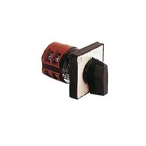 Conmutador'1-2', 2 polos, GN55, 40A, modelo U 65x65, 6,5 x 6,5 x 6,5 centímetros, color negro (Referencia: GN4055U)