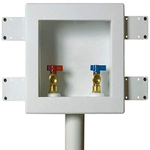 Oatey 38535 Quadtro Washing Machine Outlet Box Copper Sweat Tail Piece, Single Lever, 2' Hub