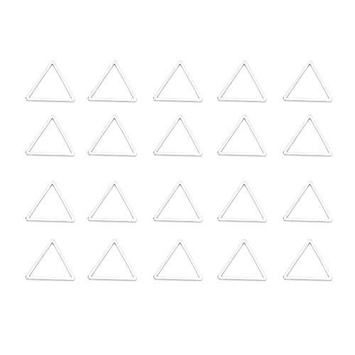 Lv. life Pendientes Que Hacen Accesorios, 20pcs Colgante geométrico Ahuecado DIY Crafts Jewelry Earrings Making Accessories(2#)