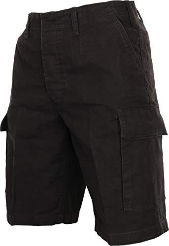 Mil-Tec BW Pantalón molesquín Bermudas, negro - algodón,