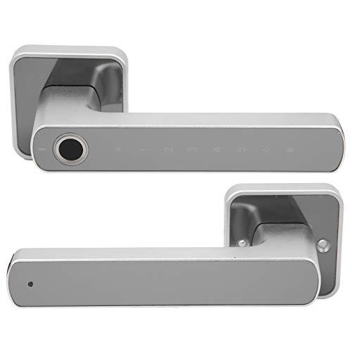 Cerradura de manija Inteligente, Sistema de Seguridad para el hogar de semiconductores Cerradura de Puerta con Huellas Dactilares, monitoreo en Tiempo Real de aleación de Zinc para oficinas